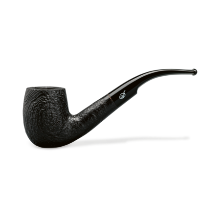 Davidoff Pot Bent Pipe, Sandblasted Black