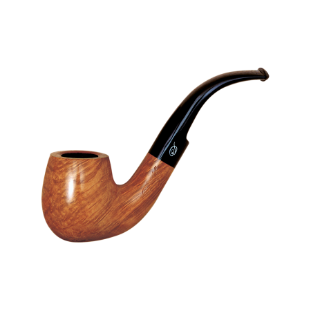 Davidoff Cognac Large Bent Pipe, Natural Light Brown