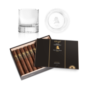 Davidoff Winston Churchill Late Hour Toro Set, Box of 20 + 2 Glass Set