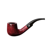 Davidoff Pot Bent Pipe, Brilliant Red
