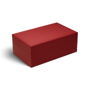 Davidoff Ambassador Humidor 'Leather Collection', Red / Cowhide Leather