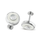 S.T. Dupont Cufflinks Jeton Collection, White