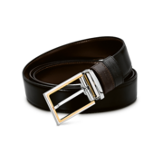 S.T. Dupont Belt Reversible Black / Brown, Delta Box / Bicolor