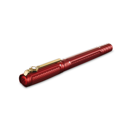 S.T. Dupont Iron Man Line D Roller Ball Pen, Red