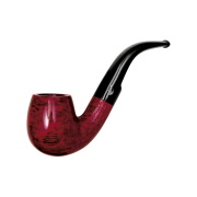 Davidoff Cognac Large Bent Pipe, Brilliant Red