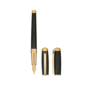 S.T. Dupont James Bond 007 Line D Pen, Fountain / Black Lacquer & Gold