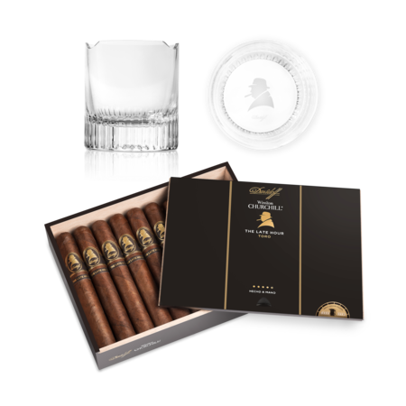Davidoff Winston Chur.Late Hour Toro Set, Box of 20 + 2 Glass Set