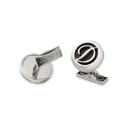 S.T. Dupont Cufflinks D Collection, Stainless Steel / Black