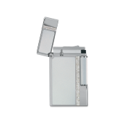 Davidoff Double Flame Lighter 'Prestige', White / Palladium / Diamond