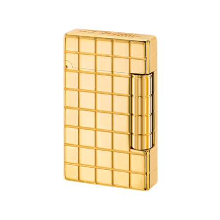S.T. Dupont Lighter Initial, Gold / Quadri Line