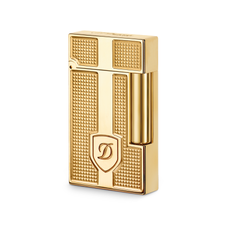 S.T. Dupont Ligne 2 'Precious Metals' Lighter, Yellow Gold Blazon