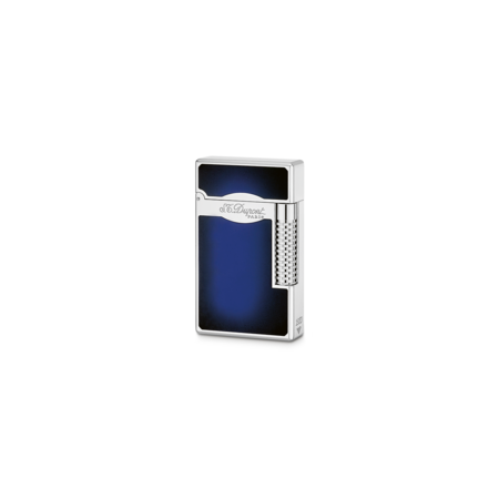 S.T. Dupont Le Grand Lighter, Blue Lacquer / Palladium