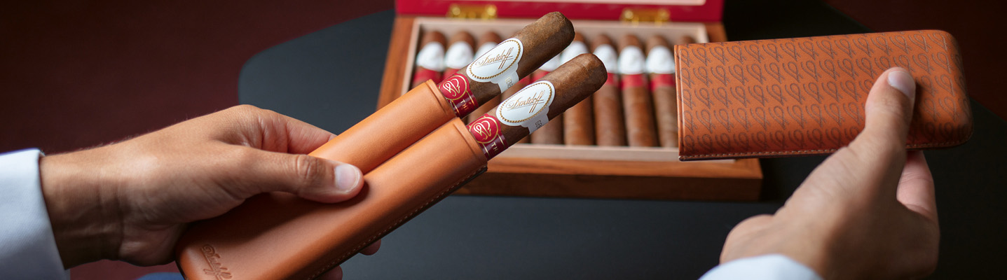 Year of the Rat 2020 Davidoff Leather Cigar Case
